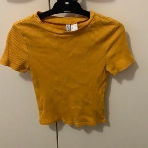 Mustard short sleeve shirt